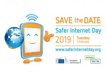 Safer Internet Day 2019 - Save the Date, Tuesday 5th February