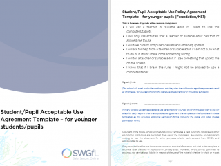 Acceptable Usage Policy (SWGfL)